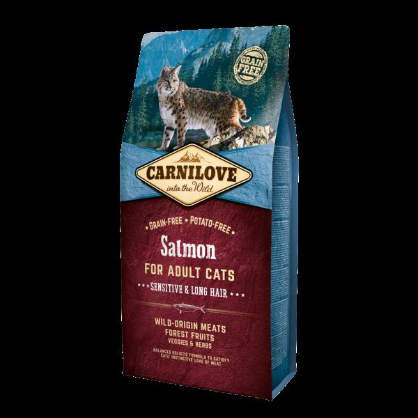 Carnilove Chat Adult Sensitive & Long Hair Saumon